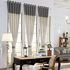 Anady Top Set of 2 Panels/Pair Drapes Modern Simple Abstr...