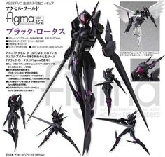"figma ""Accel World"" Black Lotus Sci Fi Characters, Girls Characters, Character Concept, Character Design, Powered Exoskeleton, Arte Ninja, Cyberpunk, Aliens, Accel World"
