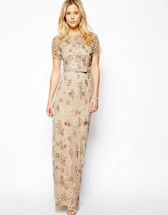 Image 1 ofNeedle & Thread Petal Maxi Dress  Pretty--so delicate.