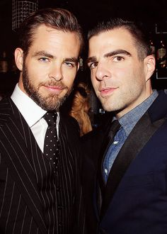 "Chris Pine and Zachary Quinto attend the ""Star Trek Into Darkness"" New York Special Screening at AMC Loews Lincoln Square on May 9, 2013 in New York City."
