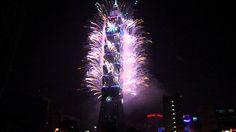 Taipei 101 Fireworks 2014 New Year's Eve