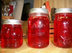 Candy Apple Jelly Recipe. Paul made this last year. Nice thing is you don't have to have fresh produce to make this. And it tastes AMAZING!