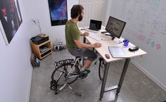 Kickstand Cycling Desk on Sportsvibe...I wonder if my students would mind me doing this while I teach?