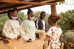 """""""The last two Ebola patients were discharged from the Mathene Treatment Centre in the northern city of Makeni"""