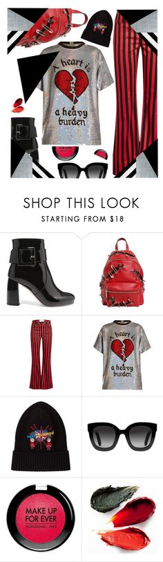 """All Heart"" by sunnydays4everkh ❤ liked on Polyvore featuring Miu Miu, Moschino, Marques'Almeida, Ashish, Dolce&Gabbana, Gucci, MAKE UP FOR EVER, Rituel de Fille and CoffeeDate"