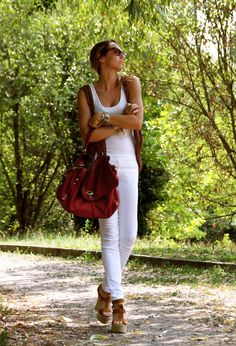 Zanellato Bags, J Brand Jeans and Castaner wedges