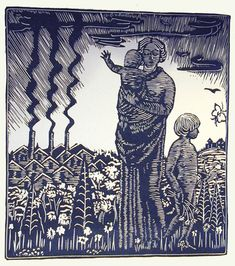 File:Wharton Esherick's woodblock print for Song of the Broad-Axe by Walt Whitman. 1924.jpg