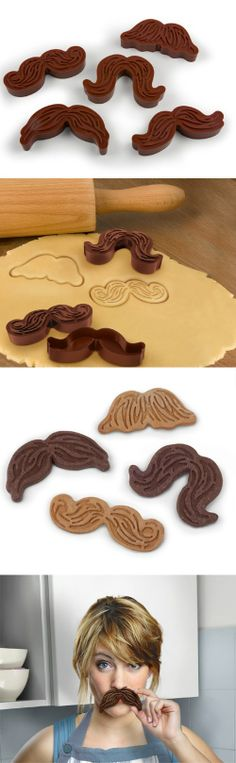 2 great loves. Mustache and   Cookies.