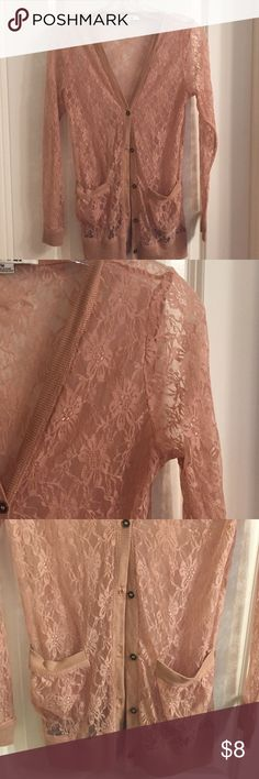 Forever 21 Lace Cardigan Forever 21 lace cardigan in excellent condition, super cute! Thanks for looking  Forever 21 Tops