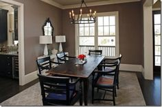 Dining Room Colors Dining Room Colors The Best Dining Room Paint Colors Dining Room Paint Colors, Paint Colours, Taupe Dining Room, Color Walls, Wall Colours, Kitchen Colors, Kitchen Ideas, Taupe Walls, Taupe Paint