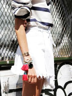 How to Layer Your Jewelry Like an It Girl via @WhoWhatWear