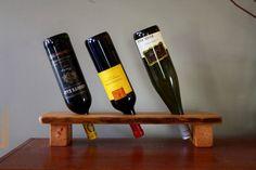 3 Bottle Wine Holder  Rustic Wine Display by rusticcraftdesign, $46.00
