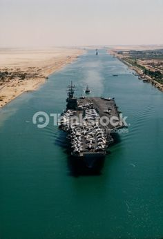 images of USS Eisenhower Suez Canal | High Angle View Of The Uss Dwight D Eisenhower Aircraft Carrier Moving ...