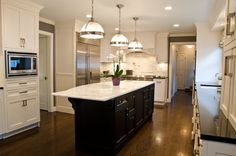 island painted black, switch out granite to white