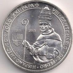 Motivseite: Münze-Europa-Südeuropa-Portugal-Euro-5.00-2005-João XXI