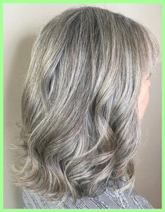 Shoulder Length Gray Hairstyle with Bangs #shoulderlengthhairwithbangs