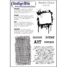 Indigo Blu stamp set