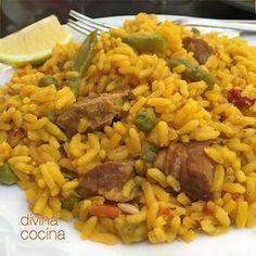 Cocina – Recetas y Consejos Rice Recipes, Pork Recipes, Cooking Recipes, Healthy Recipes, Beef Dishes, Rice Dishes, Couscous, Costa Rican Food, Deli Food