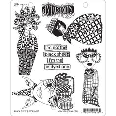"""Dyan Reaveley's Dylusions Cling Stamp Collections 8.5""""X7""""-Black Sheep #Ranger"""