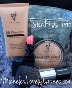 Who's Ready For Summer??? BB Flawless  Beachfront Bronzer Opulence Lipstick These 3 products will give you a perfect SunKissed Look in seconds www.micheleslovelylashes.com