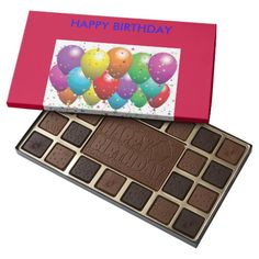 CUSTOM OCCASSION BOXED CHOCOLATES WITH CUSTOM IMAG 45 PIECE ASSORTED CHOCOLATE BOX