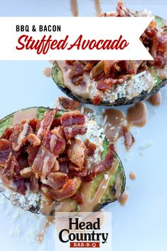 Enjoy these stuffed avocado recipes even if you are eating keto. The bacon and cheese with the avocado provide a diverse flavor all while keeping it a keto friendly avocado recipe. Best Bbq Sauce Recipe, Sauce Recipes, Healthy Snacks To Make, Healthy Grilling Recipes, Dishes To Go, Side Dishes, Stuffed Avocado, Bbq Bacon, Game Day Food