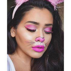 Rabbit Halloween makeup.
