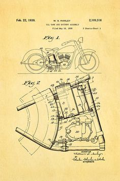 Schematic of a motorcycle engine | Harley Davidson Motorcycles ...