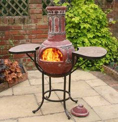 Chimnea, Interior Design Themes, Outdoor Heaters, Beautiful Homes, House Beautiful, Garden Features, Clay Pots, Sunroom Ideas, Home Appliances