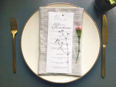 D A I N T Y . Menu Wedding Stationery, Wedding Invitations, Menu Printing, Name Cards, Dahlia, Save The Date, Wedding Table, Weddings, How To Make