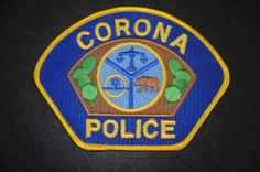Corona Police Patch, Riverside County, California (Vintage)