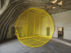 Georges Rousse, Site specific installation, 2011