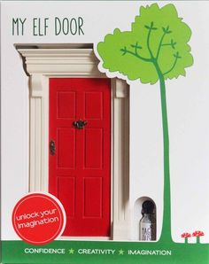 My Red Elf Door by cheeky elephant, the perfect gift for Explore more unique gifts in our curated marketplace. The Elf, Elf On The Shelf, Kindness Elves, Elf Door, Fairy Doors, Imaginative Play, Inspirational Gifts, Little Gifts, Shelves