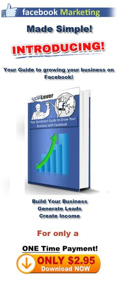Grow your business on Facebook using the Sociallever.com guide.  http://www.sociallever.com/?id=genegosvener