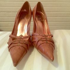Carlos by Carlos Santana Heels *Only worn once *Small signs of ware *Good condition *Leather brother heels Carlos Santana Shoes Heeled Boots