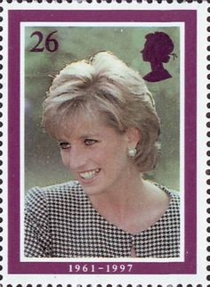 Diana, Princess of Wales Commemoration 26p Stamp (1998) On Visit to Birmingham, October 1995 (photo by Tim Graham)