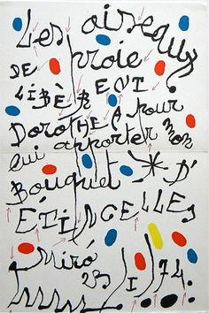 Joan Miro, Homage to Dorothea Tanning, 1974: