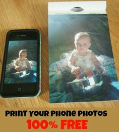 subscrition fee but still worth considering. - How to print pictures from your smartphone FOR FREE! My favorite way to keep my cell phone storage cleaned out! Photo Projects, Diy Projects, Ipad, Grandparents Day, Photoshop, Branding, Print Pictures, Photo Tips, Things To Know