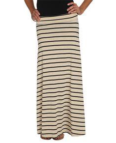 Wide Stripe Maxi Skirt - Bottoms