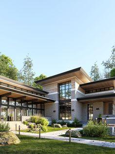 35 Amazing contemporary House Design – My World Rustic Home Design, Modern House Design, Modern Zen House, Modern Contemporary Homes, Contemporary House Designs, Dream House Exterior, Facade House, House Goals, Home Fashion