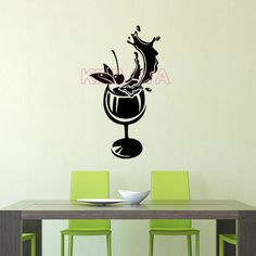Aliexpress.com : Buy Stickers Cuisine Cocktail Glass Vinyl Wall Sticker Wallpaper Wall Art Kitchen Tile Wall Decals Home Decor Decoration Poster from Reliable poster frame suppliers on Kililaya