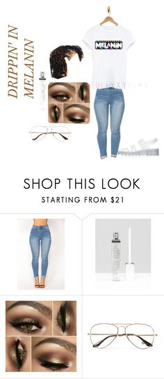 """""""Melanin Outfit"""" by benginafantaisie on Polyvore featuring Winky Lux, Ray-Ban, BlackHIstoryMonth and melanin"""