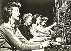 Remember switchboard operators and two-party lines? ... we would call them and ask what time it was!... D
