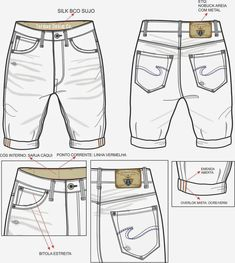 Roupas mod Fashion Sketch Template, Fashion Design Sketches, Denim Fashion, Fashion Models, Jeans Drawing, Clothing Sketches, Custom Made Clothing, Fashion Figures, Pattern Fashion