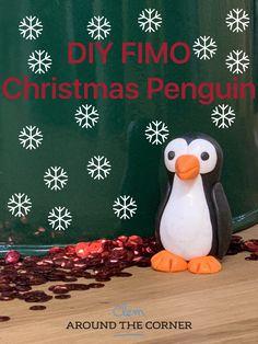 #fimo #pingouin #penguin #xmas #christmascraftsforkids #diy #craft  #crafts #doityourself #patefimo diy pingouin en pâte Fimo pour décoration de Noël déco de sapin à faire soi-même tuto tutoriel Fimo