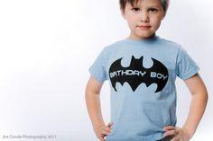 Birthday Boy Shirt - Super Hero Birthday T-Shirt ( Bat B-day Boy BYT BTT 1039 ). $16.00, via Etsy.