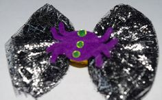 18 Inch Doll Halloween Spider Black Tulle Hair Bow Doll Handmade Halloween Hair Bow Doll Spider Tulle Bow American Girls Wellie Wisher Bow by RachelsHairBowtique on Etsy