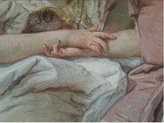 Giovanni Battista Tiepolo (1696-1770), Affresco di Villa Valmarana, Vicenza-Edificio centrale, parete del salone principale, Angelica e Medoro (dettaglio), 1757.