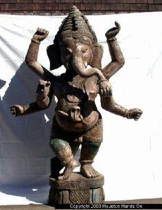 Old wooden Ganesh statue
