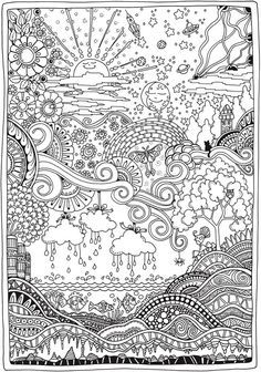 Creative Haven Insanely Intricate Entangled Landscapes Coloring Book More Coloring Pages Christmas Coloring Pages Coloring Books